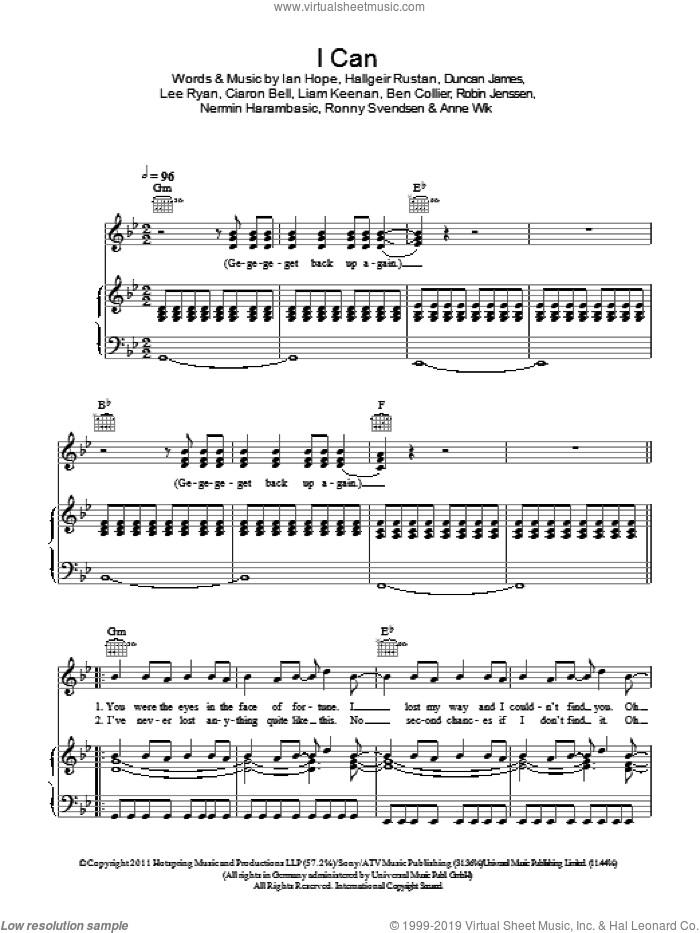 I Can sheet music for voice, piano or guitar by Ronny Svendsen and Miscellaneous. Score Image Preview.