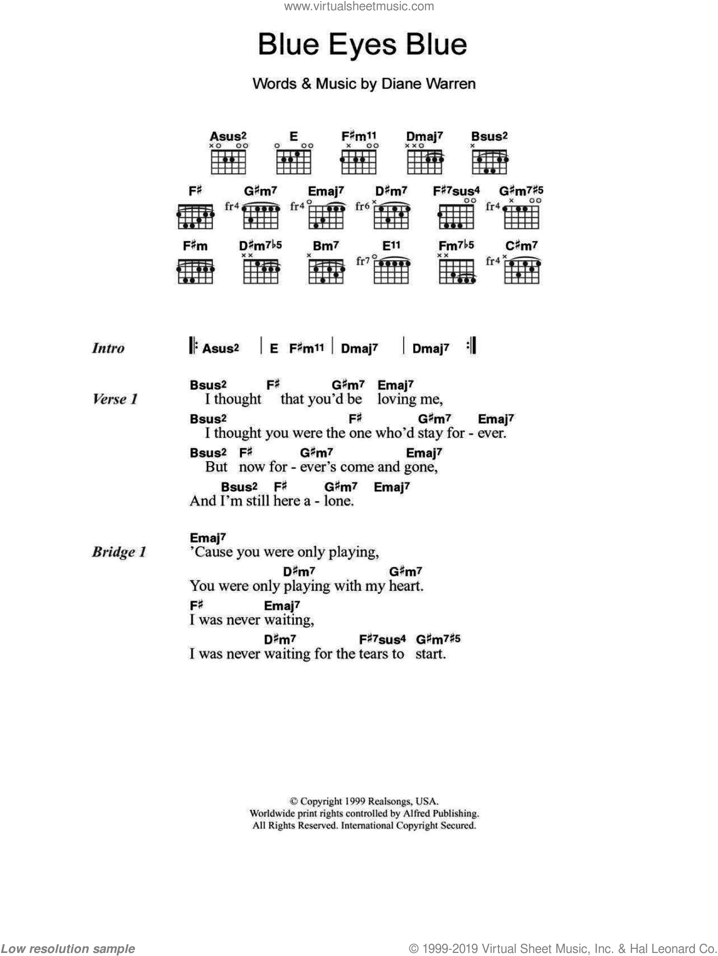 Clapton Blue Eyes Blue Sheet Music For Guitar Chords Pdf