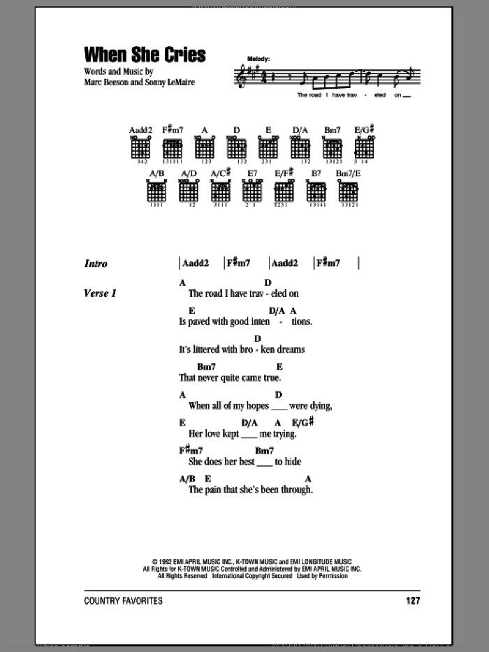 Heart When She Cries Sheet Music For Guitar Chords Pdf