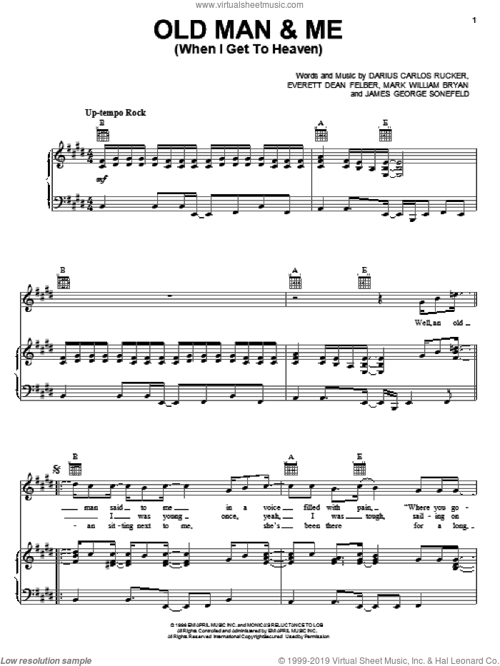 Me (When I Get To Heaven) sheet music for voice, piano or guitar by Mark William Bryan