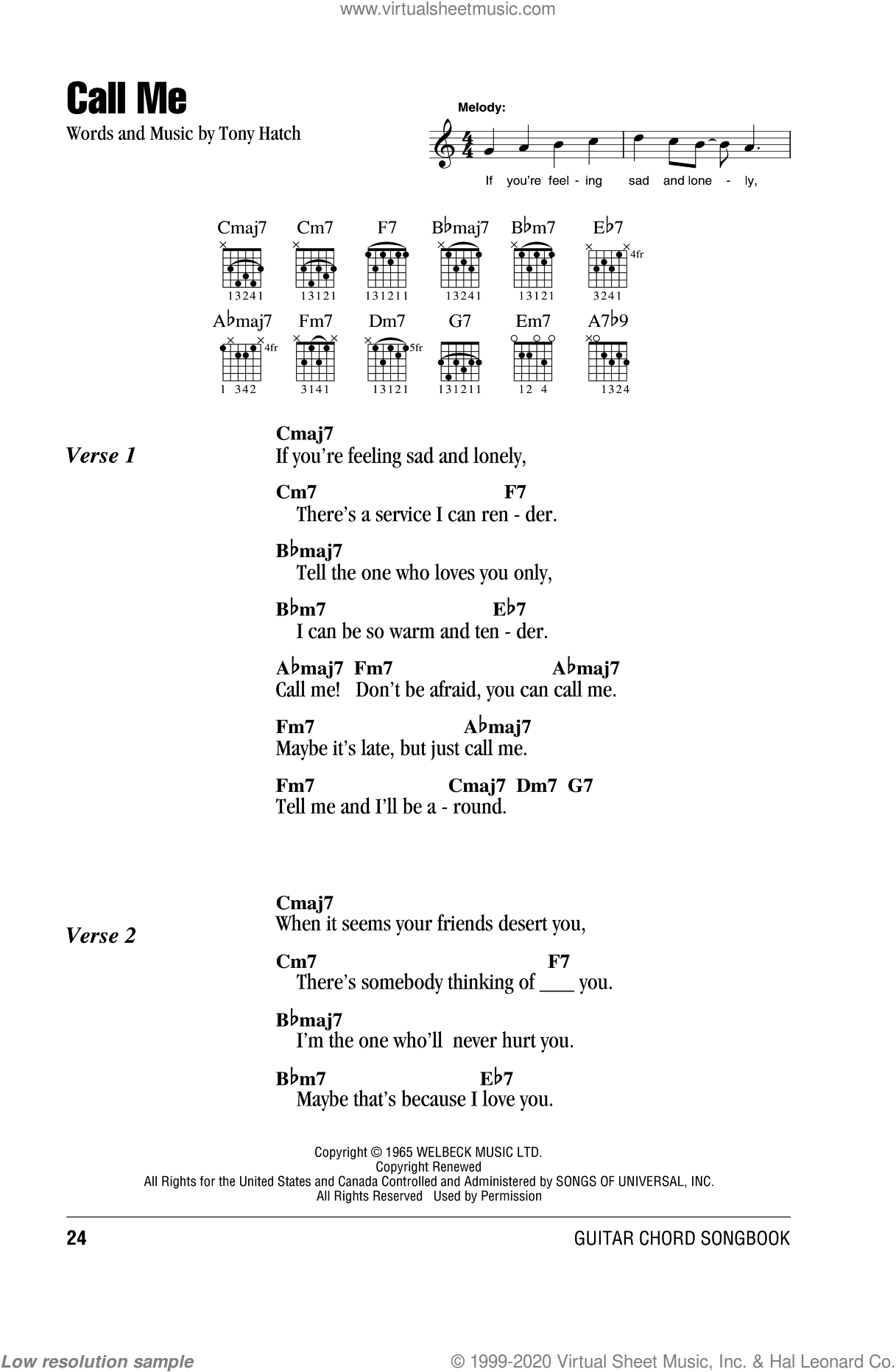 Hatch Call Me Sheet Music For Guitar Chords Pdf