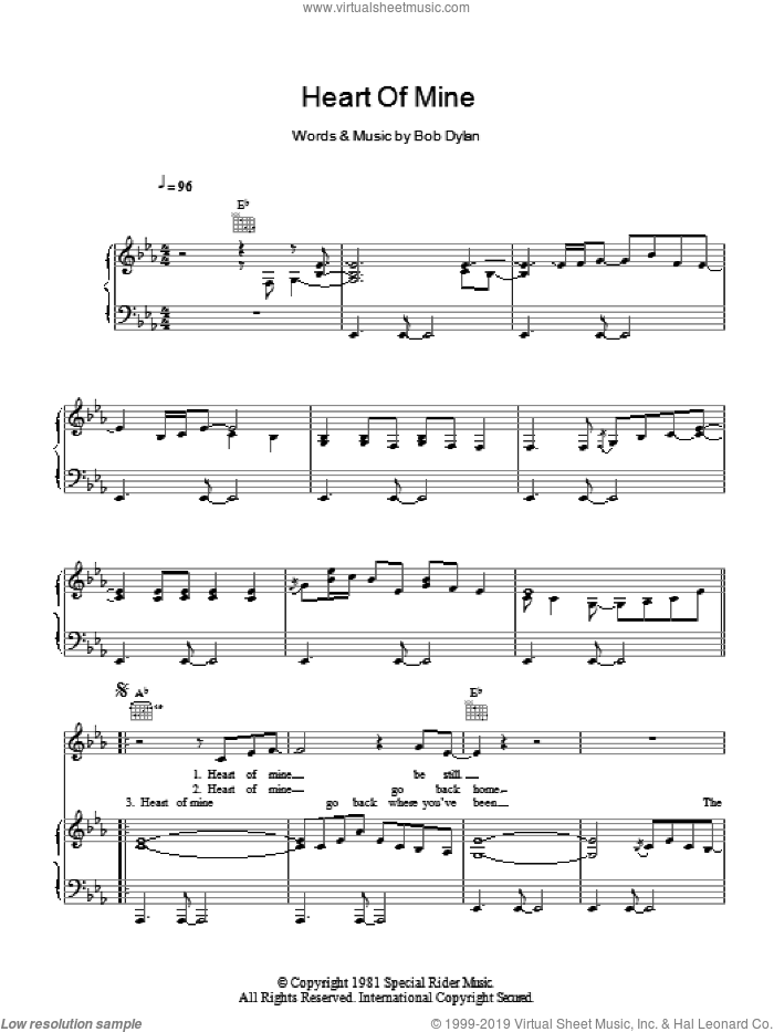 Heart Of Mine sheet music for voice, piano or guitar by Norah Jones and Bob Dylan. Score Image Preview.