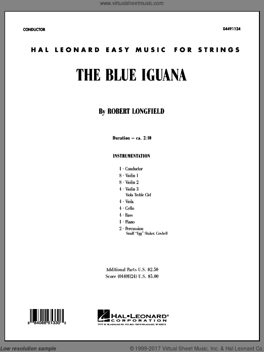 The Blue Iguana (COMPLETE) sheet music for orchestra by Robert Longfield