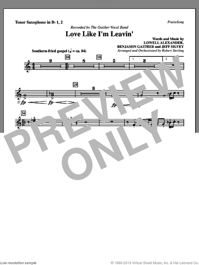 2 in Bb sheet music for orchestra/band (Rhythm) by Benjamin Gaither