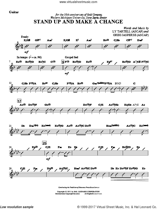 Stand Up And Make A Change (COMPLETE) sheet music for orchestra by Ly Tartell