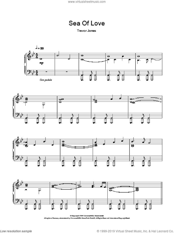 Sea Of Love (Fear And Passion) sheet music for piano solo by Trevor Jones, intermediate skill level