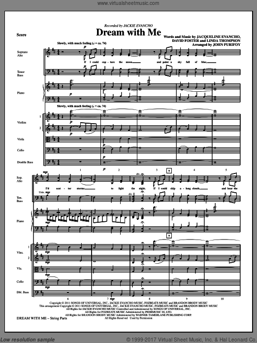 Dream With Me (COMPLETE) sheet music for orchestra by David Foster