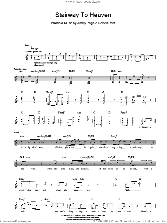 Stairway To Heaven sheet music for bass (tablature) (bass guitar) by Led Zeppelin, Rodrigo y Gabriela, Jimmy Page and Robert Plant, intermediate skill level