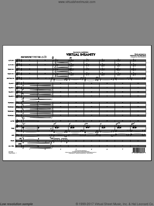 Virtual Insanity (COMPLETE) sheet music for jazz band by Jason Kay