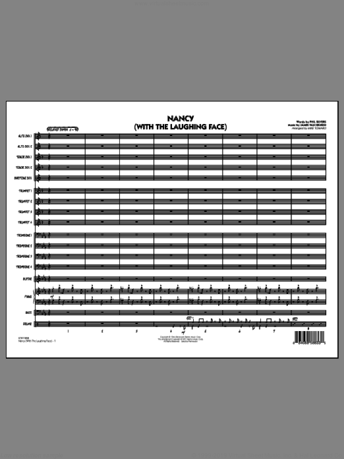 Nancy (With The Laughing Face) (COMPLETE) sheet music for jazz band by Jimmy van Heusen, Phil Silvers and Mike Tomaro, intermediate skill level
