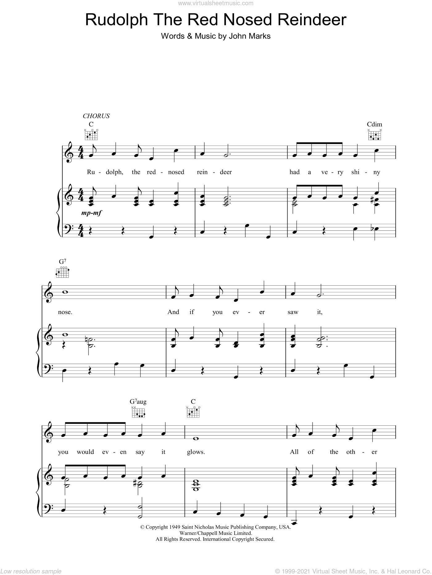 Music Sheet: It Must Be Santa Sheet Music