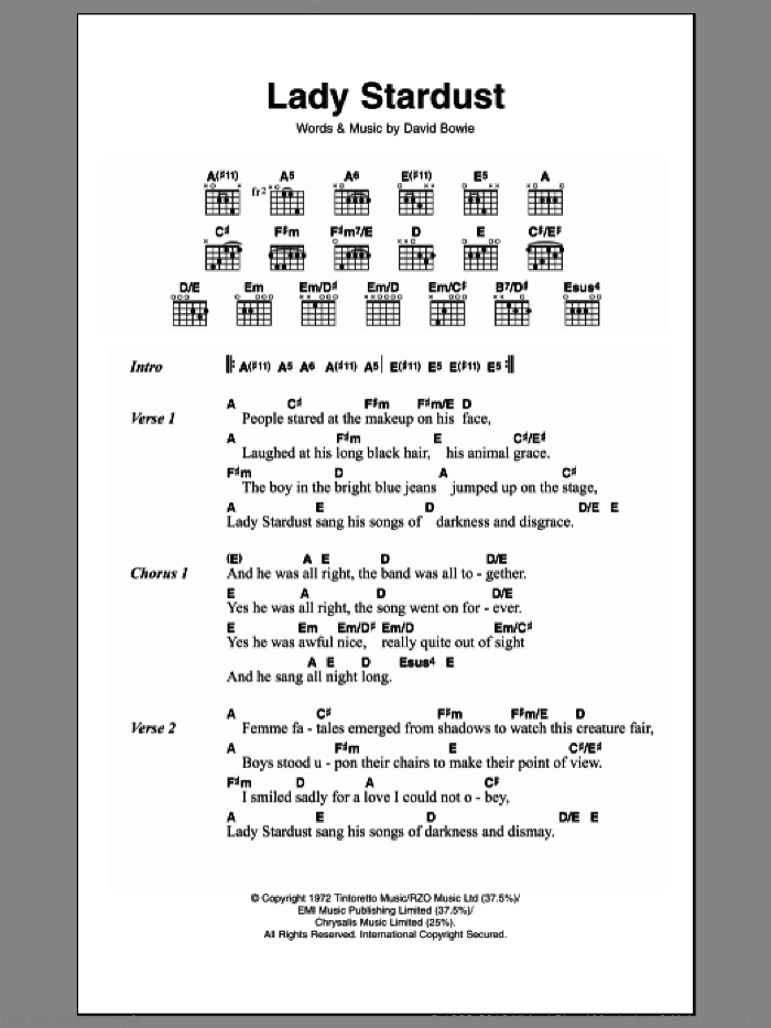 Stardust Sheet Music Free - stardust guitar tab by hoagy carmichael 83478 parish sheet music for ...