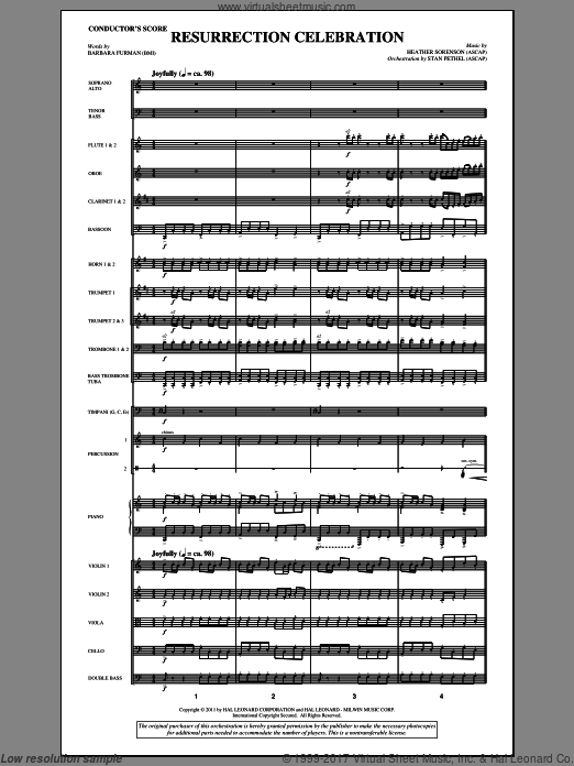 Resurrection Celebration (COMPLETE) sheet music for orchestra by Heather Sorenson