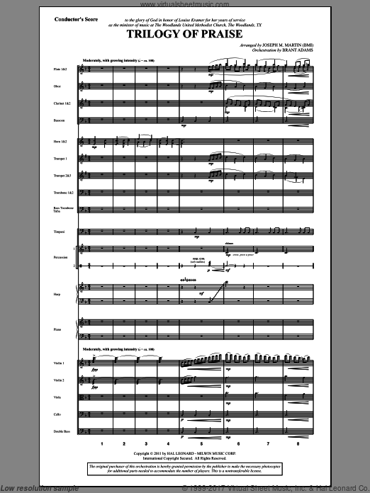 Trilogy Of Praise (COMPLETE) sheet music for orchestra by Joseph M. Martin