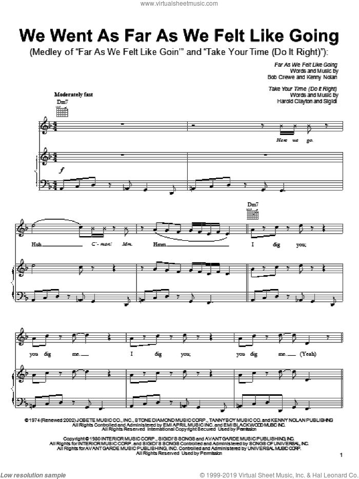 Far As We Felt Like Goin' sheet music for voice, piano or guitar by Bob Crewe, Shark Tale (Movie), The Pussycat Dolls and Kenny Nolan, intermediate skill level