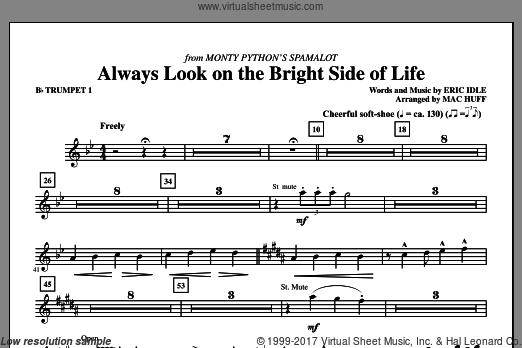 Always Look On The Bright Side Of Life (COMPLETE) sheet music for orchestra by Eric Idle