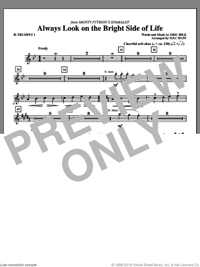 Always Look On The Bright Side Of Life (complete set of parts) sheet music for orchestra/band by Eric Idle and Mac Huff, intermediate skill level