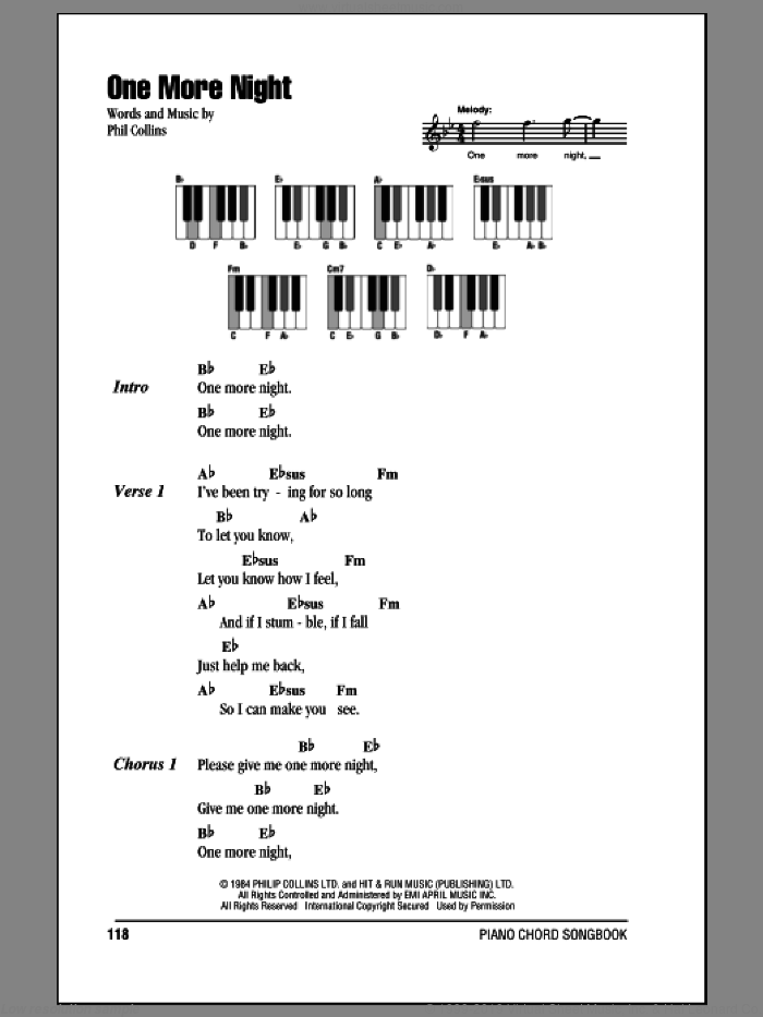 Melody guitar chords