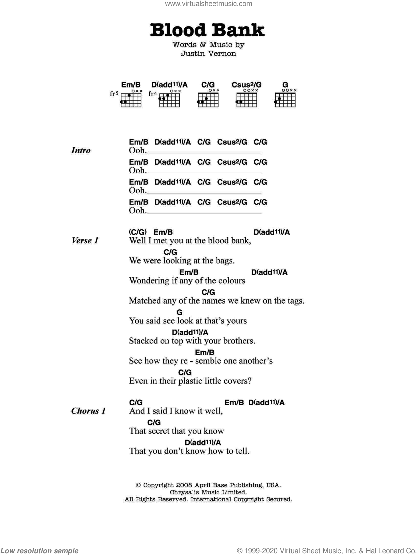 Iver Blood Bank Sheet Music For Guitar Chords Pdf