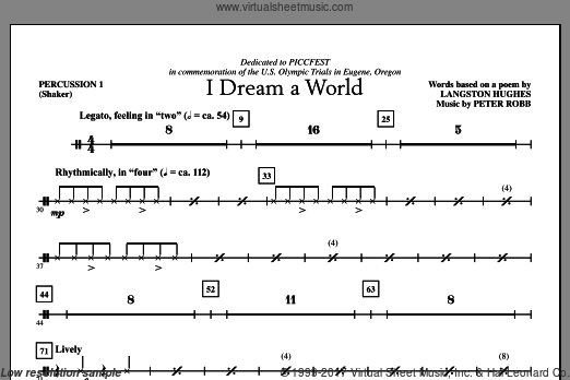 I Dream A World (COMPLETE) sheet music for orchestra by Peter Robb