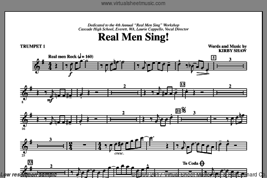 Real Men Sing! (COMPLETE) sheet music for orchestra by Kirby Shaw