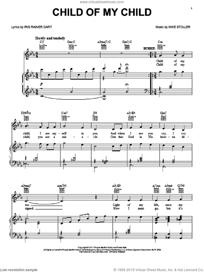 Child Of My Child sheet music for voice, piano or guitar by Mike Stoller