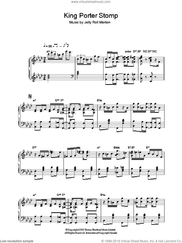 Morton King Porter Stomp Sheet Music For Piano Solo Pdf