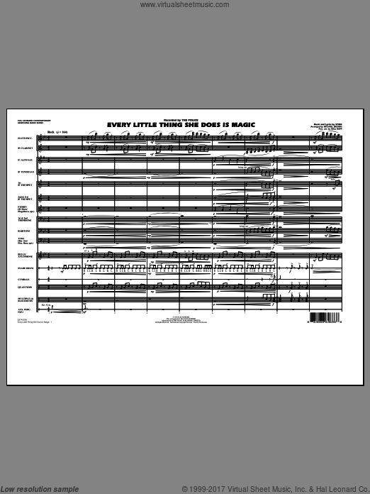 Every Little Thing She Does Is Magic (COMPLETE) sheet music for marching band by Sting