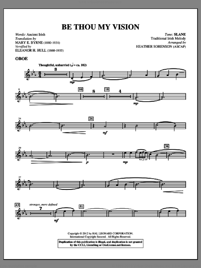 Be Thou My Vision (complete set of parts) sheet music for orchestra/band (Strings) by Heather Sorenson, intermediate skill level