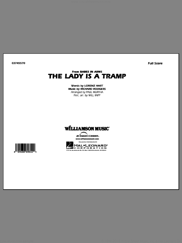 The Lady Is A Tramp sheet music for marching band (full score) by Lorenz Hart