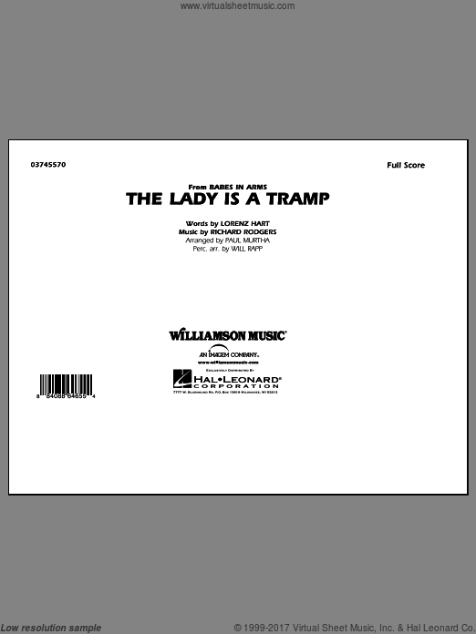 The Lady Is A Tramp (COMPLETE) sheet music for marching band by Lorenz Hart