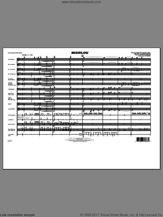 Misirlou (COMPLETE) sheet music for marching band by Nicolas Roubanis