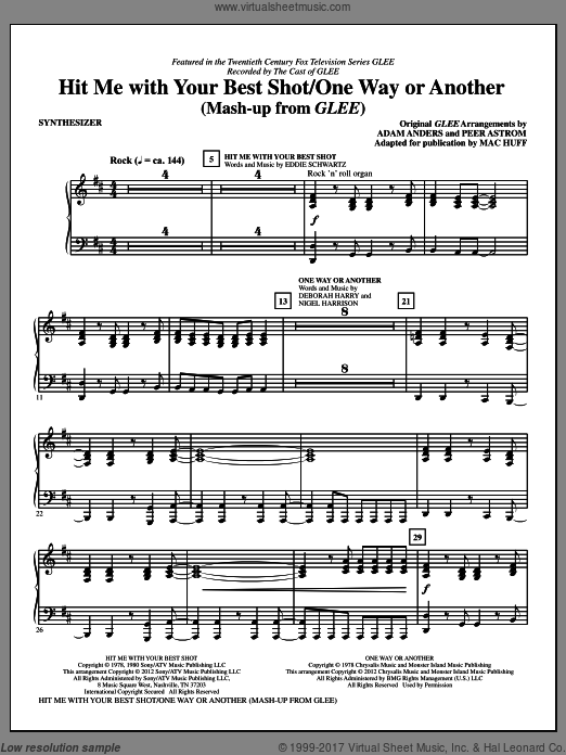 Hit Me With Your Best Shot / One Way Or Another (COMPLETE) sheet music for orchestra by Deborah Harry