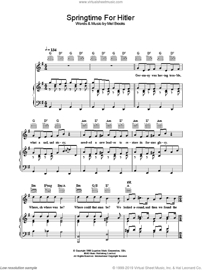 the producers sheet music pdf
