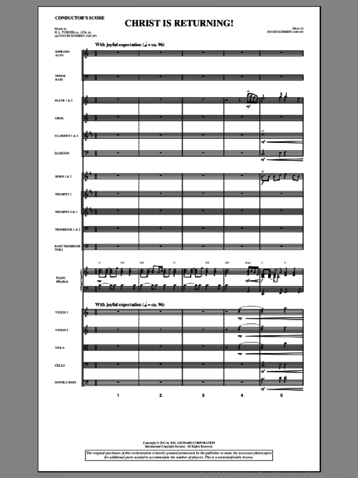 Christ Is Returning! (complete set of parts) sheet music for orchestra/band (Orchestra) by David Schmidt, intermediate. Score Image Preview.