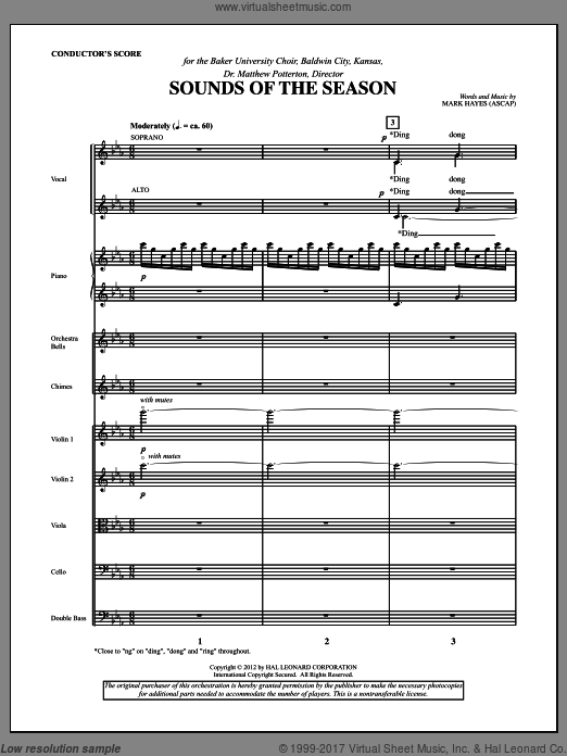 Sounds Of The Season (COMPLETE) sheet music for orchestra by Mark Hayes