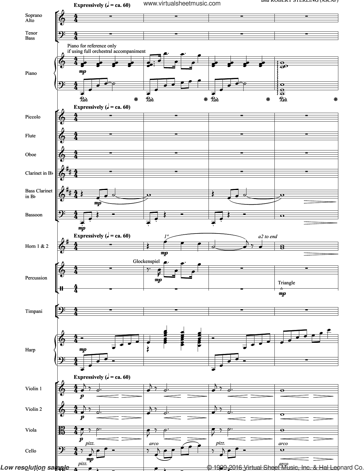 Shepherd Of The Stars sheet music for orchestra/band (full score) by Robert Sterling