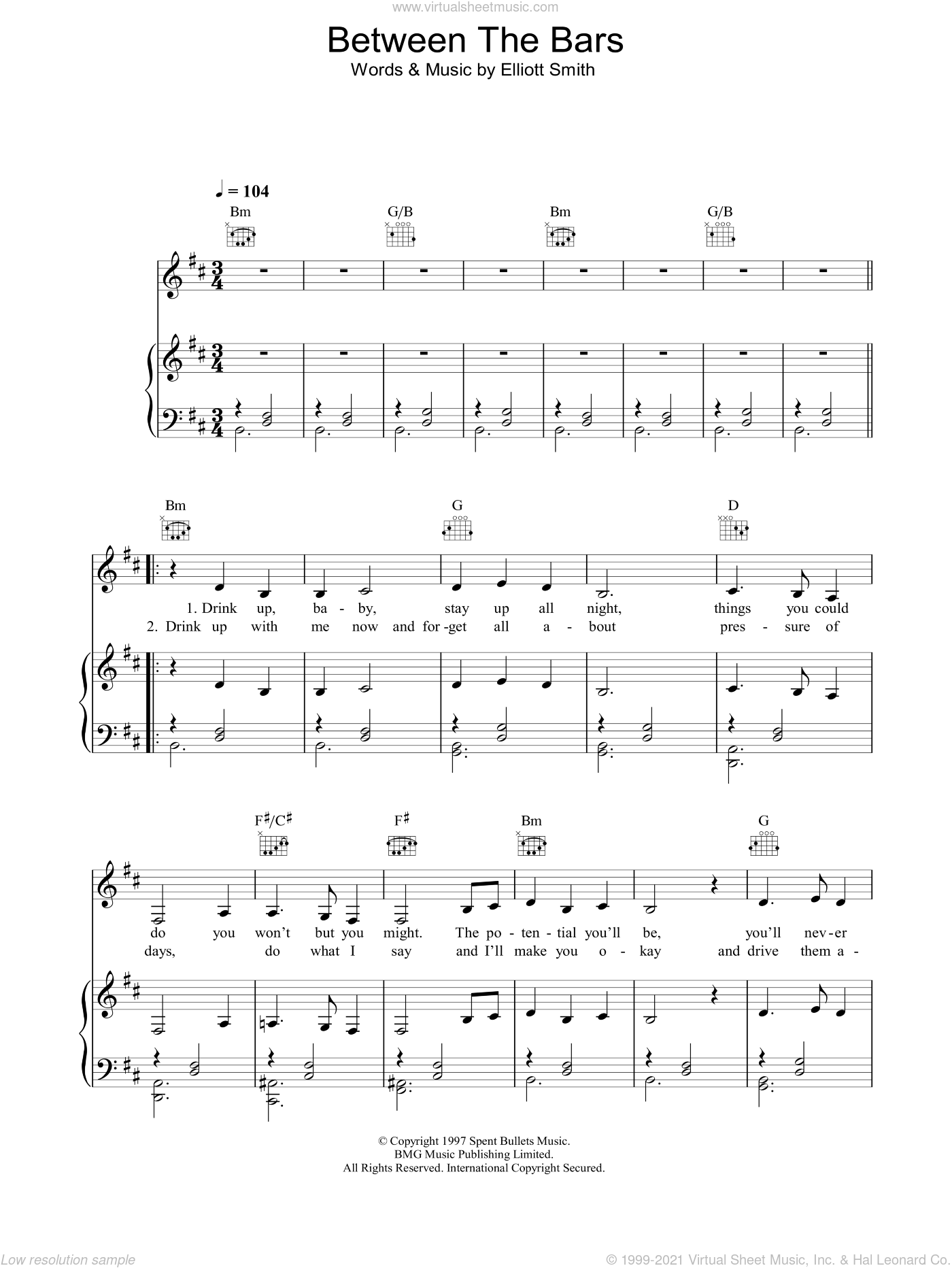 Peyroux Between The Bars Sheet Music For Voice Piano Or Guitar