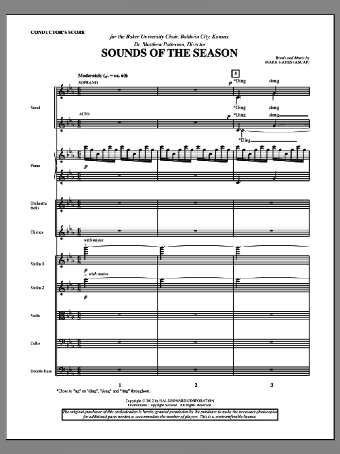 Sounds Of The Season (complete set of parts) sheet music for orchestra/band (Orchestra) by Mark Hayes, intermediate skill level
