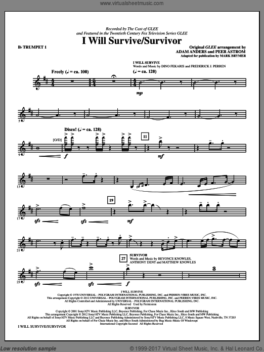 I Will Survive/Survivor (COMPLETE) sheet music for orchestra by Mark Brymer