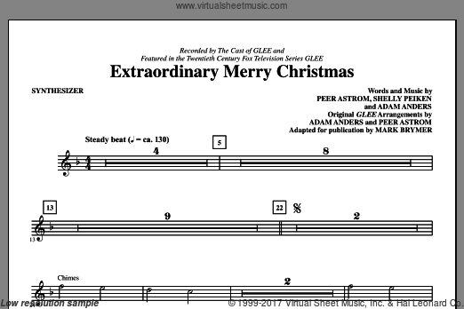 Extraordinary Merry Christmas (COMPLETE) sheet music for orchestra by Adam Anders