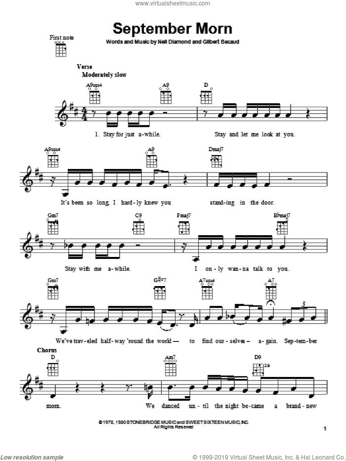 when september ends sheet music pdf