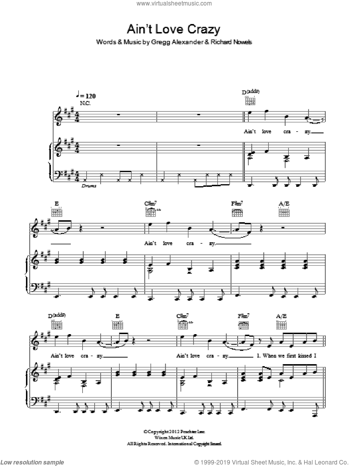 Ain't Love Crazy sheet music for voice, piano or guitar by Rick Nowels