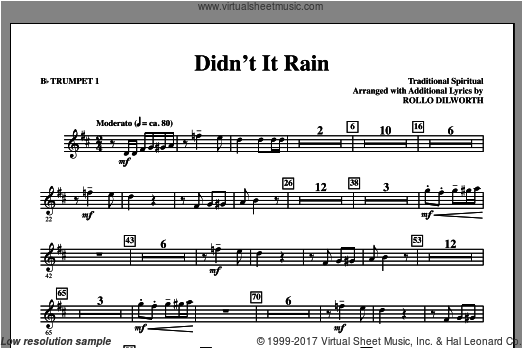 Didn't It Rain (COMPLETE) sheet music for orchestra by Rollo Dilworth