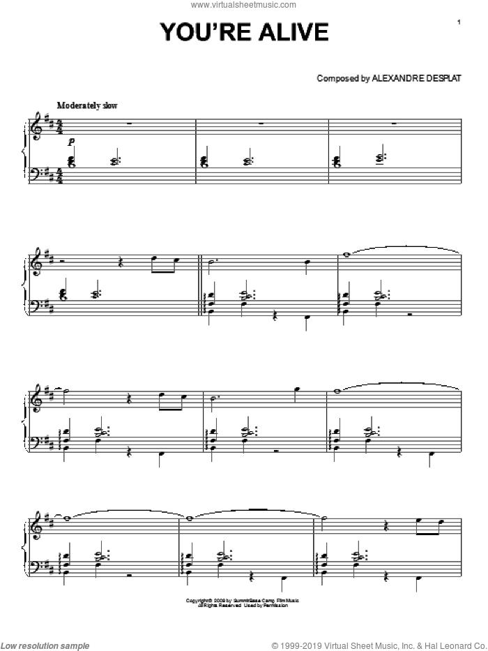 still alive piano sheet music pdf
