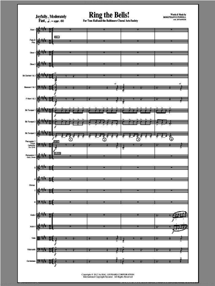 Ring The Bells! sheet music for orchestra/band (full score) by Rosephanye Powell