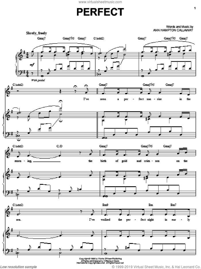Perfect sheet music for voice and piano by Ann Hampton Callaway, intermediate skill level