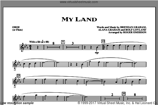 My Land (COMPLETE) sheet music for orchestra by Alana Graham