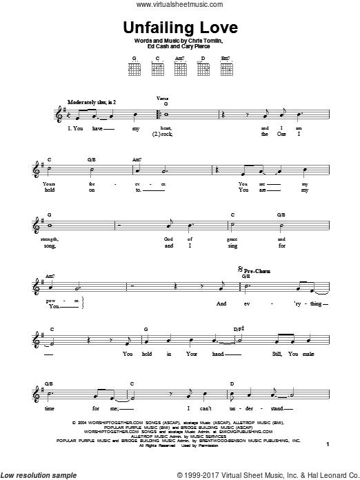 Tomlin Unfailing Love Sheet Music For Guitar Solo Chords