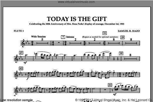 Today Is The Gift (COMPLETE) sheet music for concert band by Samuel Hazo